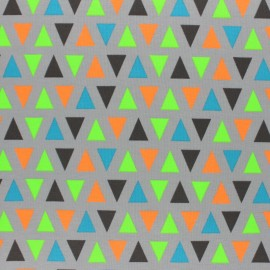 Tissu jersey Cubissimo fluo - gris x 10cm