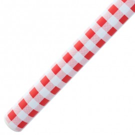 Self Adhesive Paper 45 cm x 2 m - Red Check