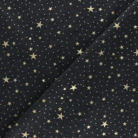 Cotton Jersey fabric - black Gold Galaxy x 10cm
