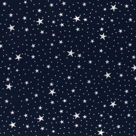 Cotton Jersey fabric - light Grey Silver Galaxy x 10cm