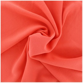 Plain embossed Crepe Fabric - red x 10cm