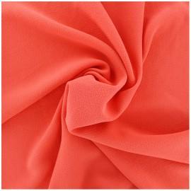 Tissu crêpe gaufré uni - rouge corail x 10cm