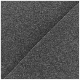Tissu sweat léger Uni - gris foncé x 10cm