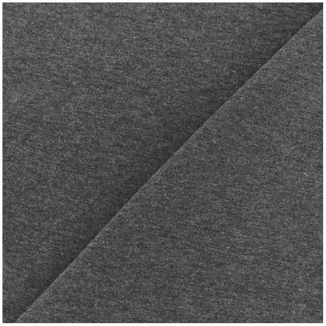 Light jogging Jersey Fabric - dark grey x 10cm