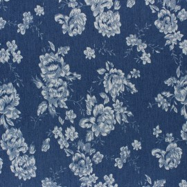Elastane jeans fabric - blue Kitten x 10cm
