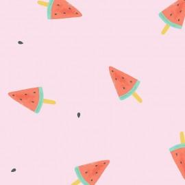 Tissu popeline Primrose Fabrics - Watermelon Lollies - rose x 10 cm