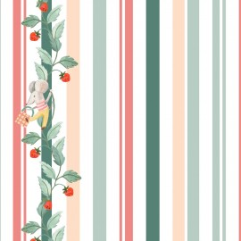 ♥ Coupon 15 cm X 110 cm ♥  Primrose Fabrics cotton fabric - raw Striperries