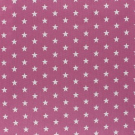 Poppy cotton Fabric - Fig white star x 10cm