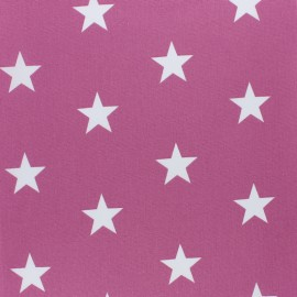 Poppy cotton Fabric - Fig Big white star x 10cm