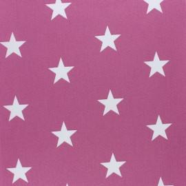 Tissu coton Popeline Poppy - Grandes Etoiles - figue x 10cm