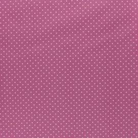 Tissu coton Popeline Poppy - Mini pois - figue x 10cm