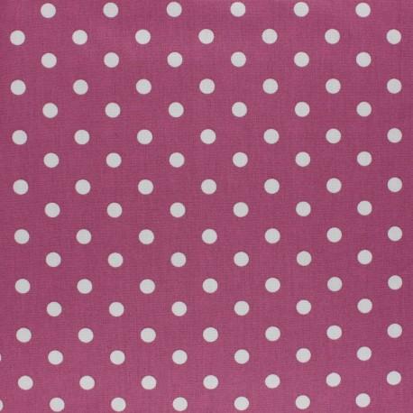 Poppy cotton Fabric - Fig Mini pois x 10cm