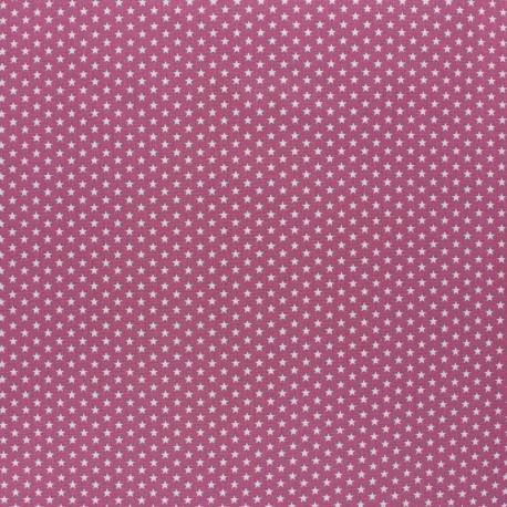 Tissu coton Popeline Poppy - Mini Etoiles - figue x 10cm