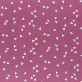 Poppy cotton Fabric - Fig white dot x 10cm