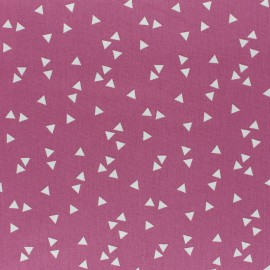 Tissu coton Popeline Poppy Triangle - figue x 10cm