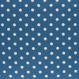 Tissu coton Popeline Poppy - Pois blanc - figue x 10cm