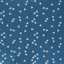 Poppy cotton Fabric - Fig white Triangle x 10cm