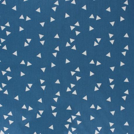 Poppy cotton Fabric - Fig white Triangle x 10cm