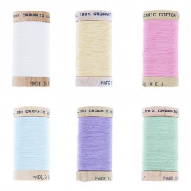 Organic Sewing Thread (6 x 100m Pack) - Pastel