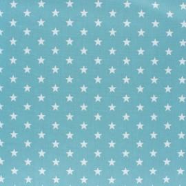 Tissu coton Popeline Poppy - Etoiles blanches - opaline x 10cm