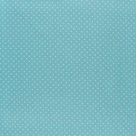 Tissu coton Popeline Poppy - Mini pois - opaline x 10cm
