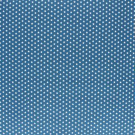Poppy cotton Fabric - Medium blue Little star x 10cm