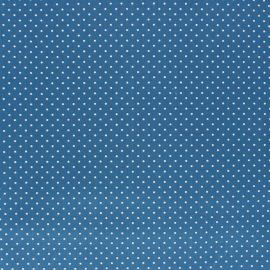 Poppy cotton Fabric - Medium Blue Mini pois x 10cm