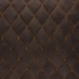 Simili cuir matelassé Chesty - tabac x 10cm