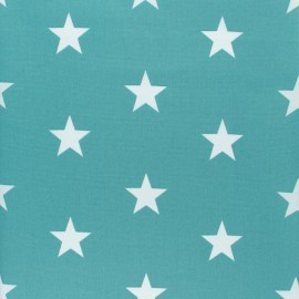 Poppy cotton Fabric - opaline Big white star x 10cm