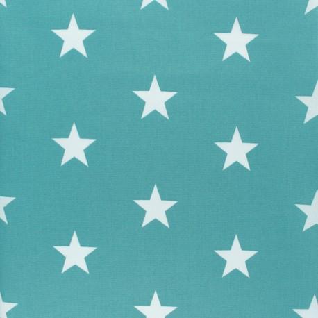 Tissu coton Popeline Poppy - Grandes Etoiles - opaline x 10cm