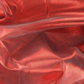 ♥ Coupon 300 cm X 150 cm ♥ Lamé Fabric - Red