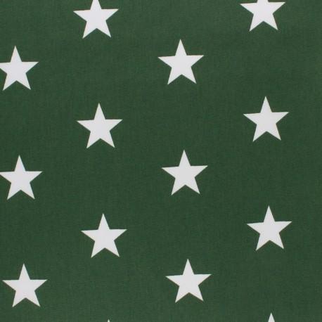 Poppy cotton Fabric - opaline Big white star x 10cm