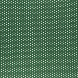 Poppy cotton Fabric - Pine green Little star x 10cm