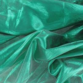 Tissu lamé vert prairie x 1m