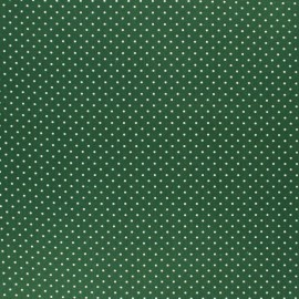 Poppy cotton Fabric - Pine green Mini pois x 10cm