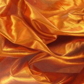 Tissu lamé orange x 1m