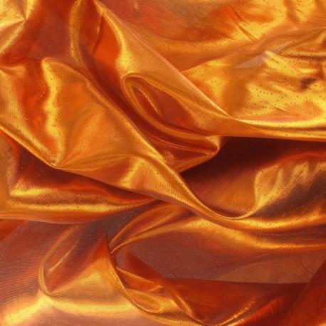 Lamé orange (au mètre)