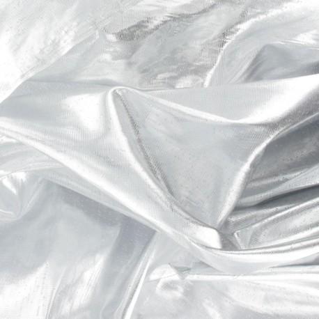 Lamé Fabric - Silver x 1m
