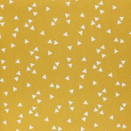 Tissu coton Popeline Poppy Triangle - jaune moutarde x 10cm