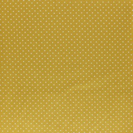 Poppy cotton Fabric - mustard yellow Mini pois x 10cm