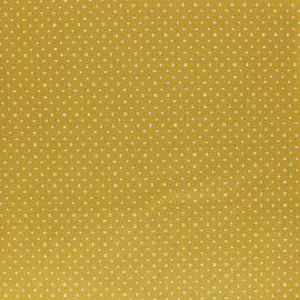 Tissu coton Popeline Poppy - Mini pois - vert sapin x 10cm