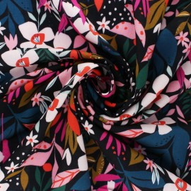 Dashwood studio Rayon fabric - Black Secret Garden x 10cm