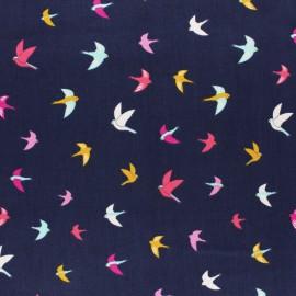 Cotton Dashwood fabric - blue Tiger Meadow Safari x 10cm