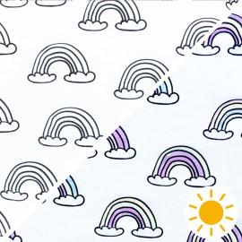 Tissu Jersey Photosensible Ice-cream - blanc x 10cm