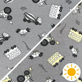 Color Changing jersey fabric - grey Vroom-Vroom x 10cm
