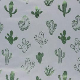 Tissu jersey Passion Cactus - rose/vert métallisé x 10cm