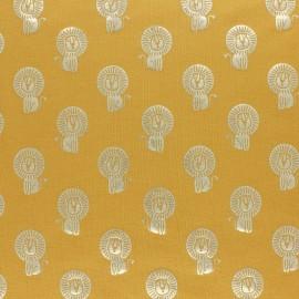 Tissu jersey Passion Savane - jaune/doré x 10cm