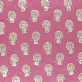 Cotton Jersey fabric - Pink/Gold Savannah Passion x10cm
