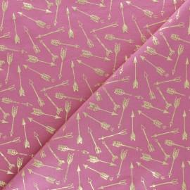 Tissu jersey Passion Fléchette - rose/doré x 10cm