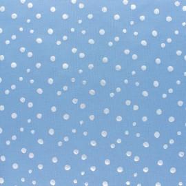 Tissu jersey Passion Fléchette - bleu/doré x 10cm